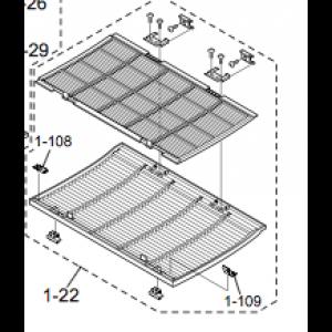 Komplett filterdekselpakke (1.) for 12 HRN