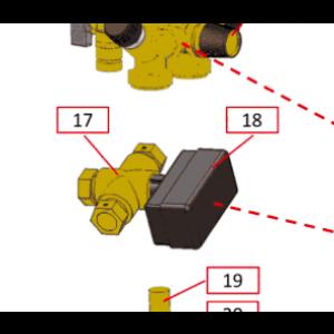 Motor for vekslingsventil for IVT avtrekksvarmepumper