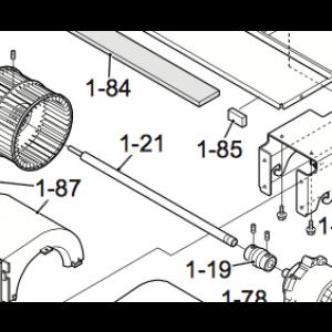 Vifteaksel til IVT Nordic Inverter indre del 12HRN