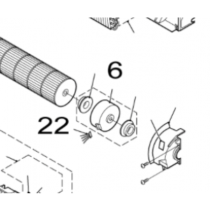 022A. Kabel for viftemotor for Nordic Inverter FRN / GRN
