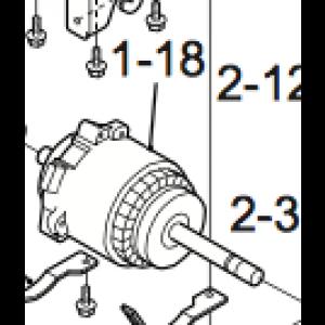 Viftemotor for Nordic Inverter 12 HR-N indre del