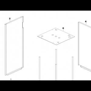 003A. Panelplate venstre side for IVT Greenline og Bosch