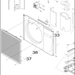 036B. Frontplate for utendørsenhet Nordic Inverter