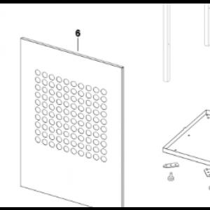 006A. Panelplate foran IVT til IVT Optima