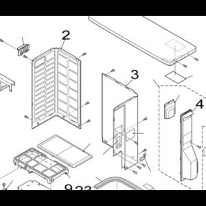003B. Høyre plate for utendørsenhet Nordic Inverter FRN / GRN