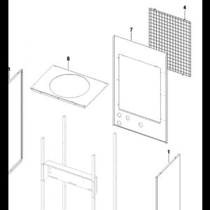 004A. Grill bak for IVT Optima og Bosch EHP