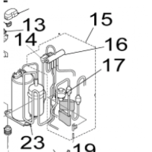 015B. 4-veis sett Utendørsenhet Nordic Inverter 12 FRN