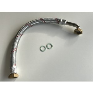 """002C. Flekseslange 3/4 """"med 1"""" tilkobling Lengde = 570mm Bosch Original"""