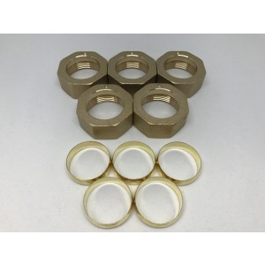 5-pakningsmutter & klemring Conex 28