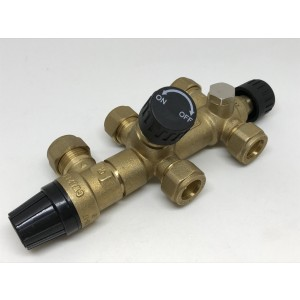 079. Ventilkobling (2 ventiler + sikkerhetsventil)