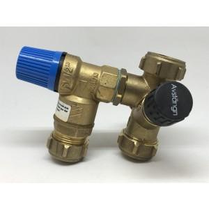 023. Sikkerhetsventil med ventilkobling 9bar