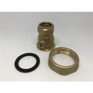 """037C. Avstengningsventil 22 mm 11/2 """"6204000"""