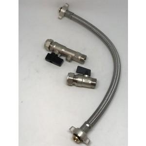 147. Fyllesløyfesett, 2 ventiler og slanger