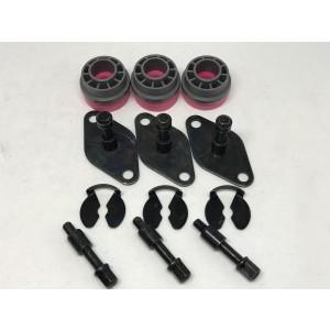 Gummispjeld / vibrasjonsdemper med skruesett for kompressor NIBE 310/410 etc.