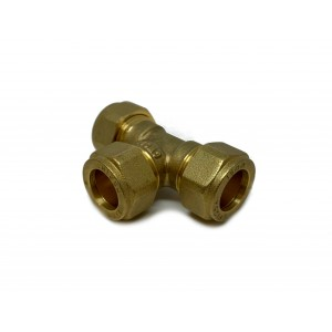T-rør klemringskobling 15 mm 2-pakning