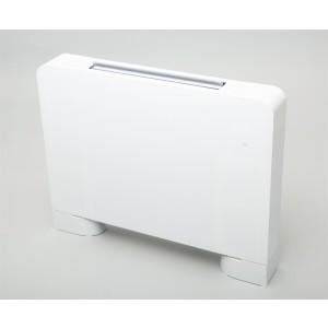 Viftekonvektor KON080 front i hvitt glass