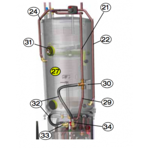 Rør Cu 22X1 Inkl Gass Cpl 7 mm
