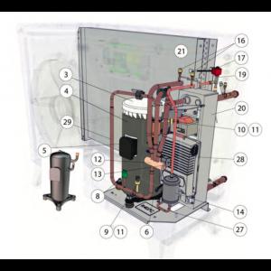 Isolasjonshettekompressor Mitsubishi