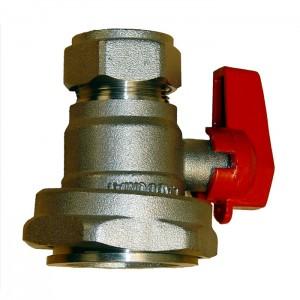 Kuleventil R40-Cu22 med spak